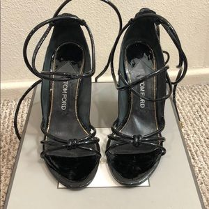 Tom Ford patent leather strappy sandal